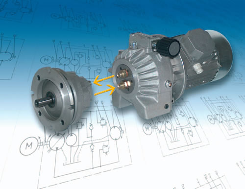 P Series Variable Displacement Hydaulic Pump And Fixed Displacement Radial Piston Motor Drive System